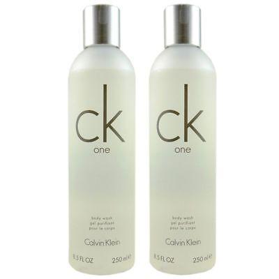 Calvin Klein CK One 2 x 250 ml Body Wash Bodywash Dusch Gel Duschgel Set