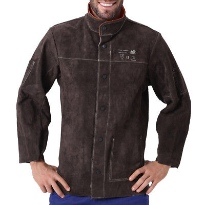 Ap-5130 Heavy Duty Fire Retardant Cowhide Leather Welding Jacket Winside Pocket