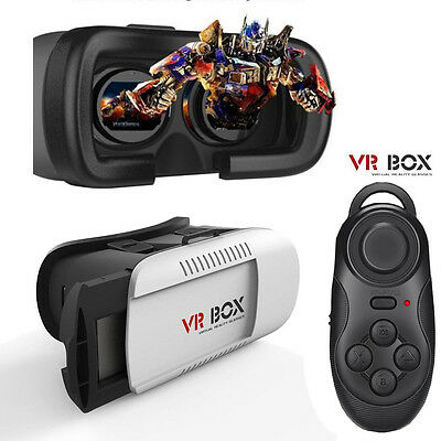 Virtual Reality VR Headset 3D Glasses With Remote for Android IOS iPhone Samsung - 3 D Glasses
