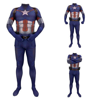 Avengers Captain America Cosplay Costume Tights Elastic Kid Adult Belt Strap - Captain America Costume Adult