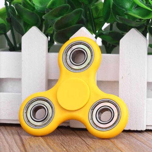 Yellow Plastic Fingertip Fidget Finger Spinner EDC Gyro Chea