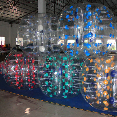 1 5M Body Inflatable Bumper Football Zorb Ball Human Bubble Soccer Ball Blue Us
