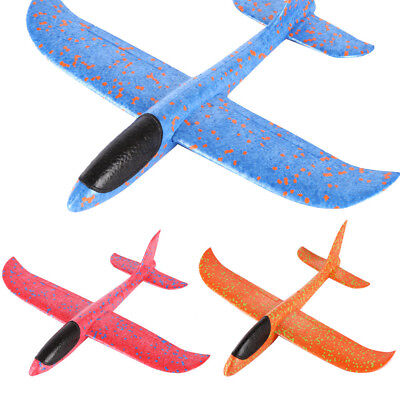 Foam Throwing Glider Airplane Inertia Aircraft Toy Hand Launch Airplane Model US