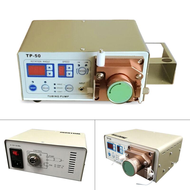 TP-50 Peristaltic Dispenser Glue Machine+Teflon tube dispensing pen 2 modes 30VA