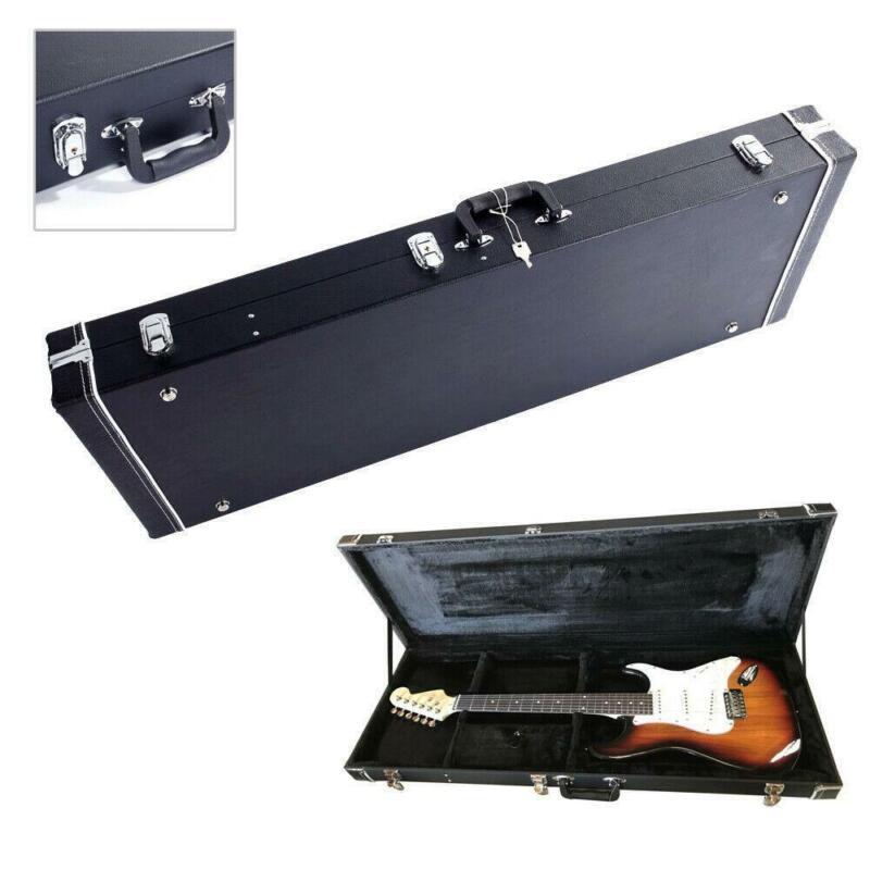 Glarry High Grade Electric Guitar Square Lockable wood hard case