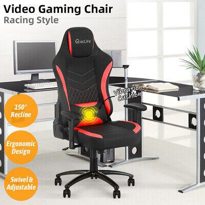 Gaming Chair Racing Office Ergonomic Computer Desk Seat Recliner Swivel Massage