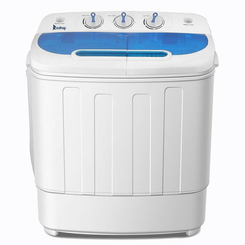 Mini Washing Machine Compact Twin Tub Washer Spin & Dryer 13
