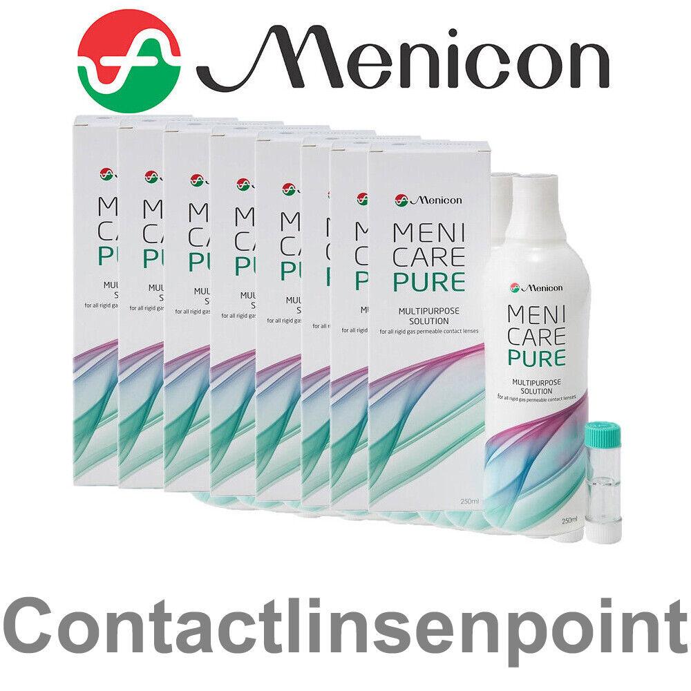 1- 8 Flaschen Menicon Meni Care Pure a 250ml Kontaktlinsenflüssigkeit