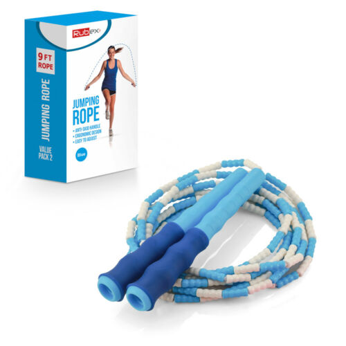 Soft Beaded Jump Rope Tangle-Free,Segmented Speed Jumping  Rope Cable