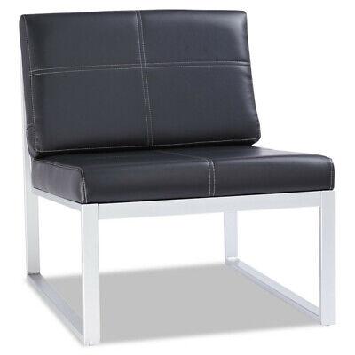 Alera Ispara Series Armless Cube Chair Blacksilver Rl8319cs New