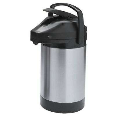 Hubert Airpot Coffee Dispenser With Lever Lid Stainless Steel 2 12 Liter