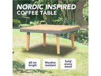 Garden Coffee Table 60x60x31.5 cm Solid Acacia Wood-46469