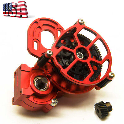 Transmission Case Center Gearbox For 1/10 RC AXIAL SCX10 AX10 Crawler Car Red-US