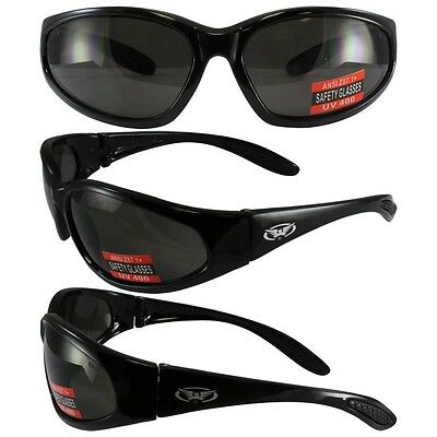 Hercules UNBREAKABLE Safety Sunglasses-SMOKE Lenses Lens NO