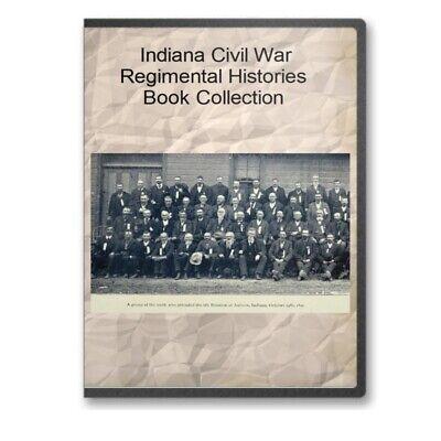 Indiana Civil War Regiment Union Infantry History Genealogy 39 Book Set - C529