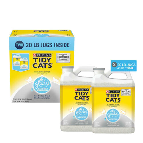 Purina Tidy Cats Clumping Litter with Glade Twin Pack , Easy