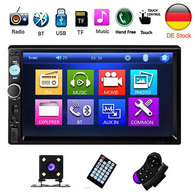 Touch Stereo (Doppel 2 DIN Autoradio Car Stereo MP3 Player 7 Zoll Touch Bluetooth USB + Kamera)