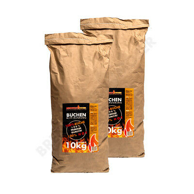 1,39€/kg Holzkohle Buche für BBQ,Grillkohle groß,20kg(2x10),Buchenholzkohle,Stea