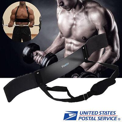 Heavy Duty Arm Isolator Blaster Body Building Bomber Bicep Curl Triceps Bar Gift