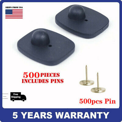 500pcs Check Point Compatible Security Hard Tag 16mm Pins 8.2mhz Fast-shipping