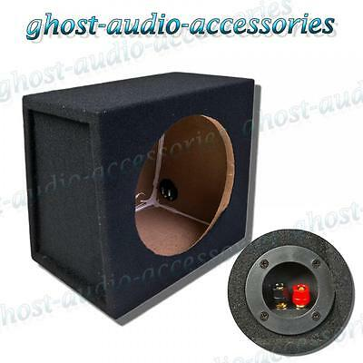 """Car Sub Subwoofer Bass Box /& Binding Post 10 /"""" Inch MDF Black Carpeted Sealed"""