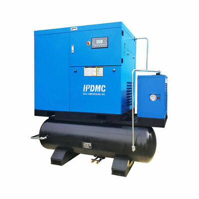Hpdmc 230v 3ph 30hp Rotary Screw Air Compressor With Two 160 Gallon Tanks