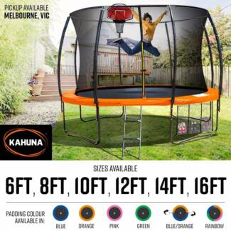KAHUNA TRAMPOLINE 6FT TO 16 FT PICK UP AVAILABLE IN MELBOURNE