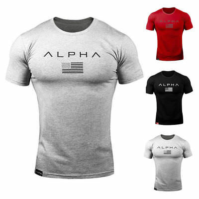 ALPHA MALE Gym Rabbit T-Shirt Workout BodyBuilding Fitness MMA Motivation Tops