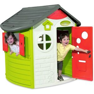 Smoby Jura Lodge Childrens Garden Playhouse, Kids Outdoor Wendy House