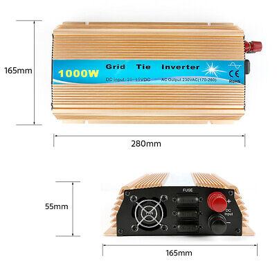 Grid Tie (Solar Inverter Grid Tie 1000W DC20V~45V zu AC230V 50-60Hz EU Wechselrichter MPPT)