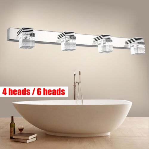 Modern Crystal LED Cabinet Mirror Front Lamp Wall Sconce Lig