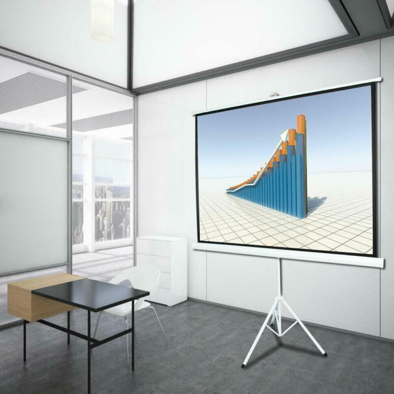 """100"""" 4:3 Projector Screen Portable Indoor Outdoor Projection with Stand Tripod"""