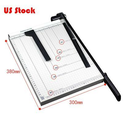 15 Paper Cutter B4 To B7 Metal Base Guillotine Page Trimmer Blade Scrap Booking
