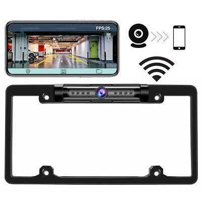 170° Car License Plate Backup Camera WiFi Wireless Rear View Cam For Android IOS Wireless License Plate Backup