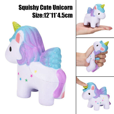 12CM Creative Squishy Rainbow Unicorn Slow Rising Pressure Relief Toy Games Hot