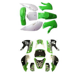Decals Sticker and Plastic  Fairing for Kawasaki KLX 110 DRZ KX65 140 150cc