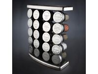 Original Olde Thompson Stainless Steel 20 Jar Spice Rack With Spices