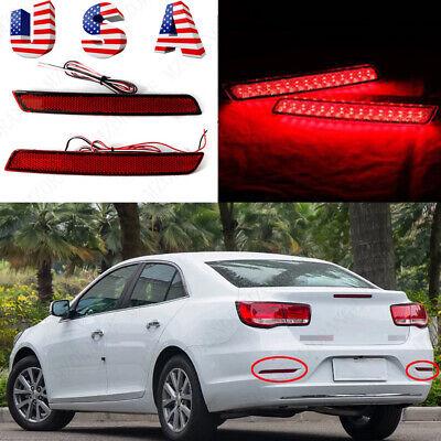 2x LED Rear Bumper Reflector Brake Tail Light Lamp For Chevrolet Malibu 2012-16