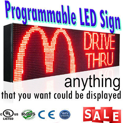 15 X 88 Marquee Boards Red Outdoor Programmable Text Bar Store Neon Bar Sign