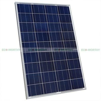 ECO 100 Watt 100W 12V Solar Panel Battery Power Charge for RV Boat Home TV Camp