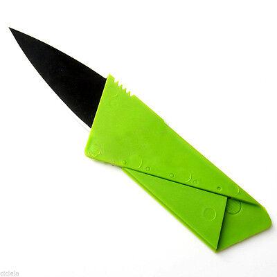 New grün Portabel Rote Kreditkartenmesser Taschenmesser Klappmesser Messer