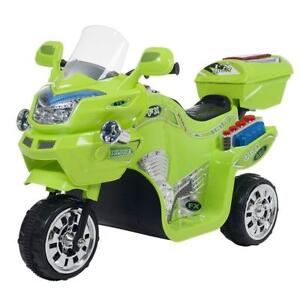 NEW Lil' Rider 3 Wheel Motorcycle Trike for Kids Battery Powered Ride on Toys for Boys and Girls, 2-5 Year Old - Gree...