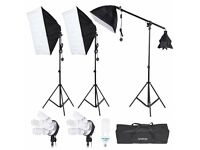 Continuous Soft Box lighting set (Like new)