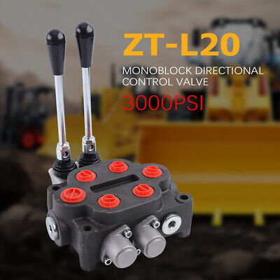 2 Spool 25gpm Double Acting Hydraulic System Valve Tanks 3000psi 31.5mpa Tractor