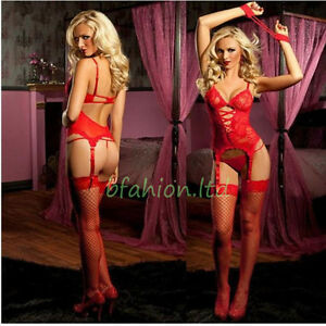 Hot Sexy Women Lace Lingerie Underwear G string Babydoll Sleepwear Dress