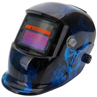 Pro Solar Welding Helmet Auto Darkening Grinding Welder Mask Hood Lens Blue Us