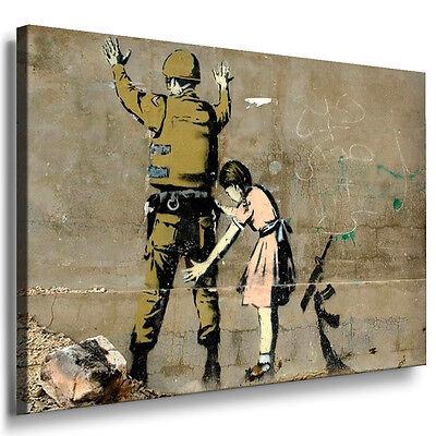 Bilder auf Leinwand banksy 80cm XXL 4168 neu Alle Wandbilder fertig gerahmt
