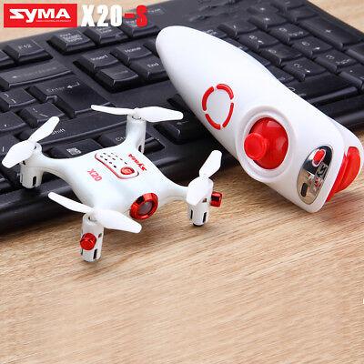 Syma 3D Flip X20-S Single Hand Control RC Drone Mini Pocket RC Helicopter RTF AU
