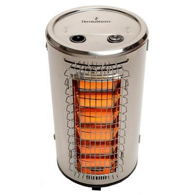 Patio Heater 32,000 BTU Gas Propane Stainless Steel with Oxygen Depletion System Compact Patio Heater