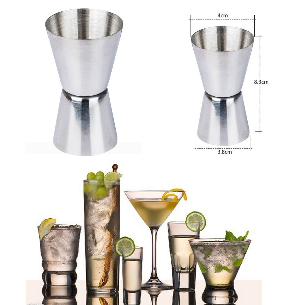 Tala-Premium Steel JIGGER-Single Double Shot Spirit Drink Measure mt